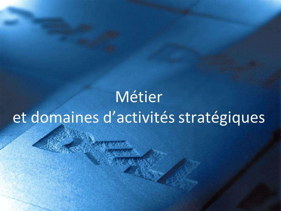 Métier et domaines d'activités stratégiques