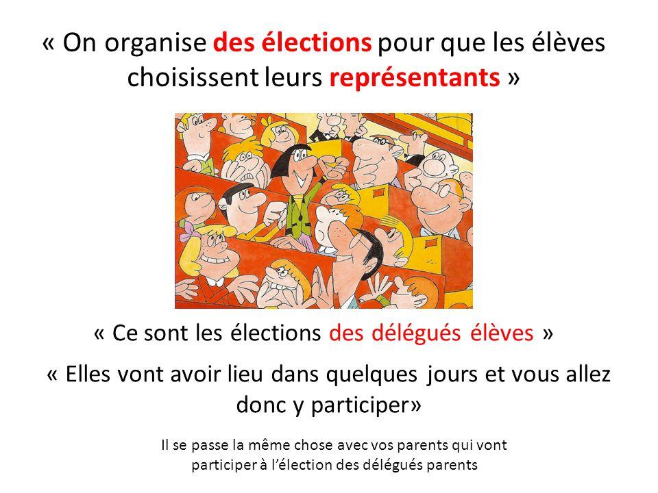 « Ce sont les élections des délégués élèves »