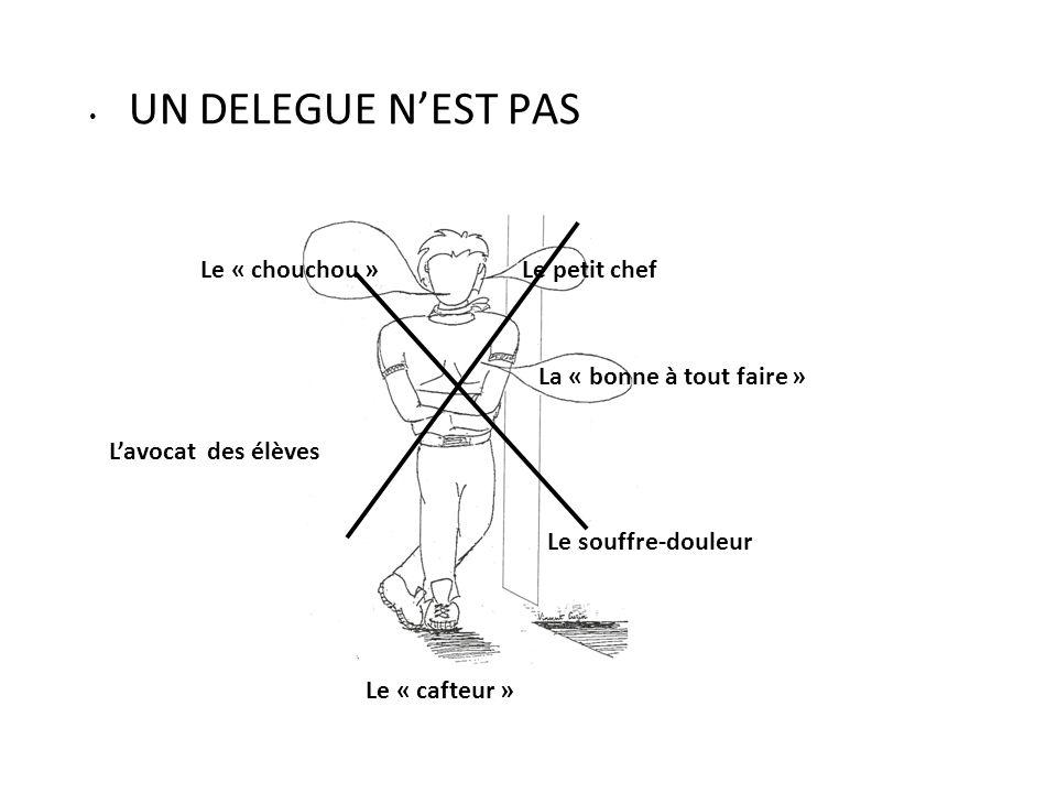 UN DELEGUE N'EST PAS Le « chouchou » Le petit chef