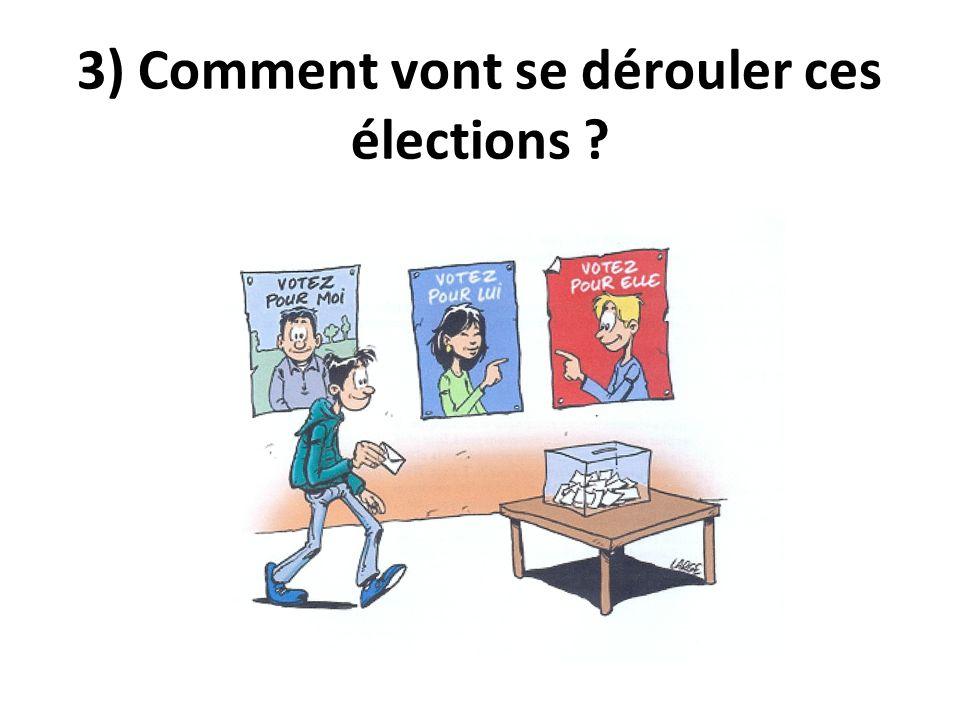3) Comment vont se dérouler ces élections