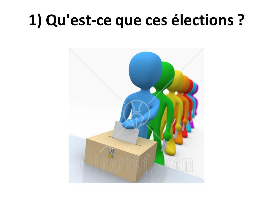 1) Qu est-ce que ces élections