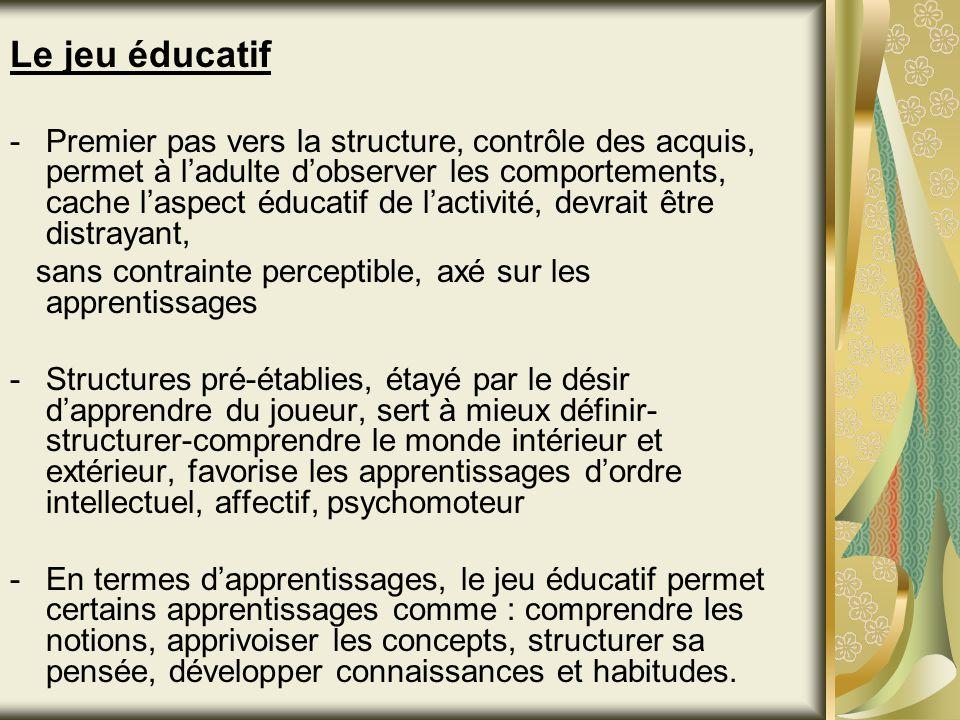 Le jeu éducatif