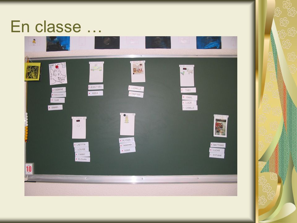 En classe …