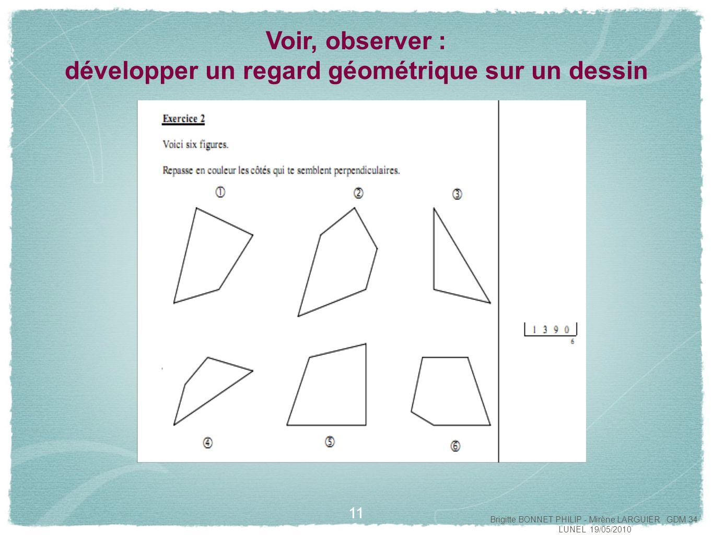 Voir, observer : développer un regard géométrique sur un dessin