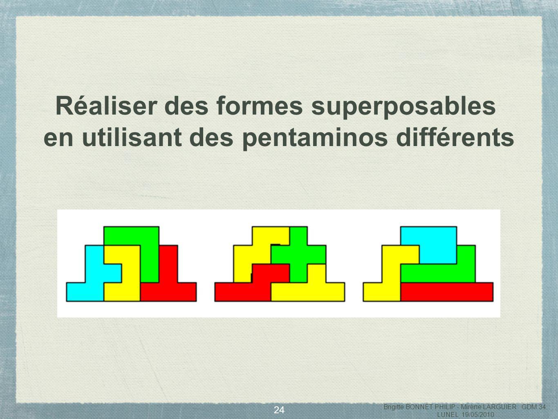 Réaliser des formes superposables