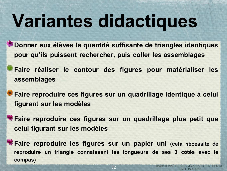 Variantes didactiques