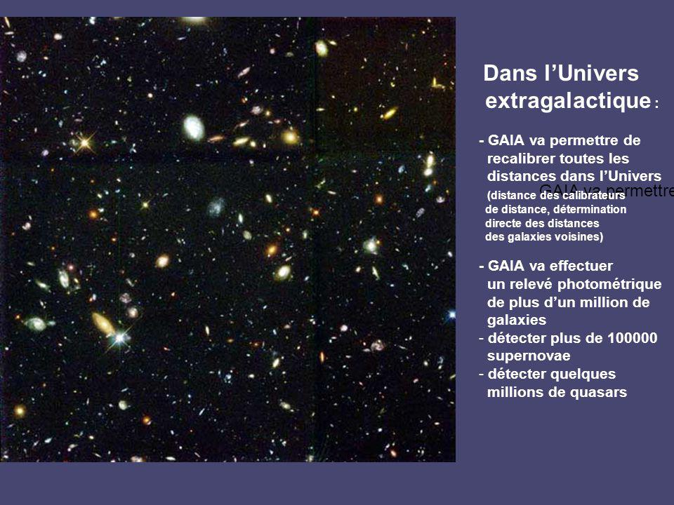 extragalactique : GAIA va permettre Dans l'Univers