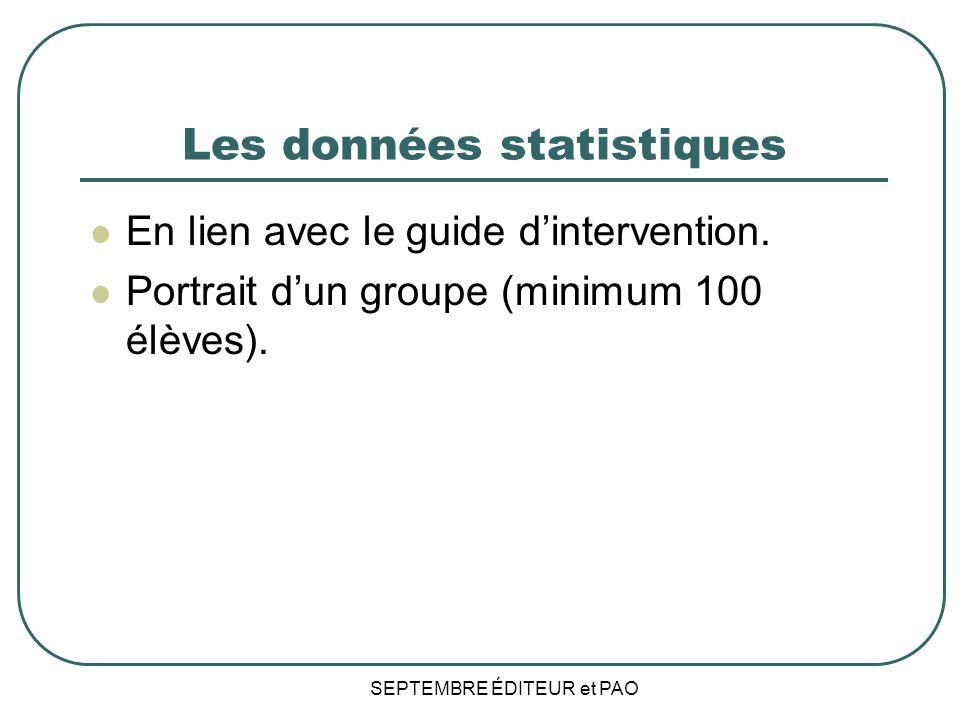 Les données statistiques