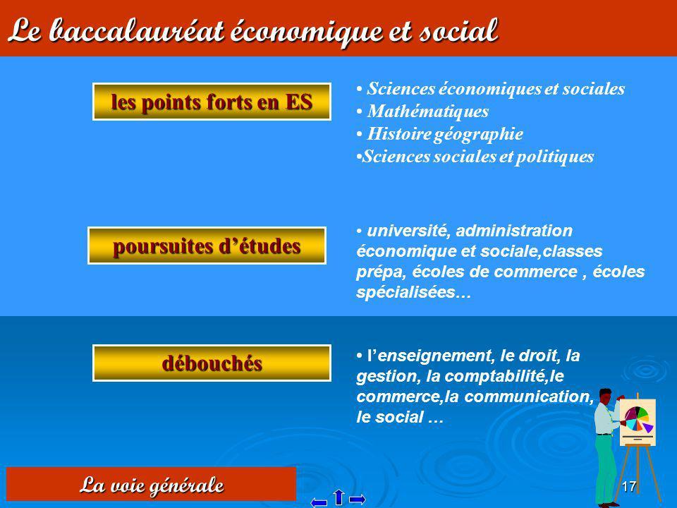 Le baccalauréat économique et social