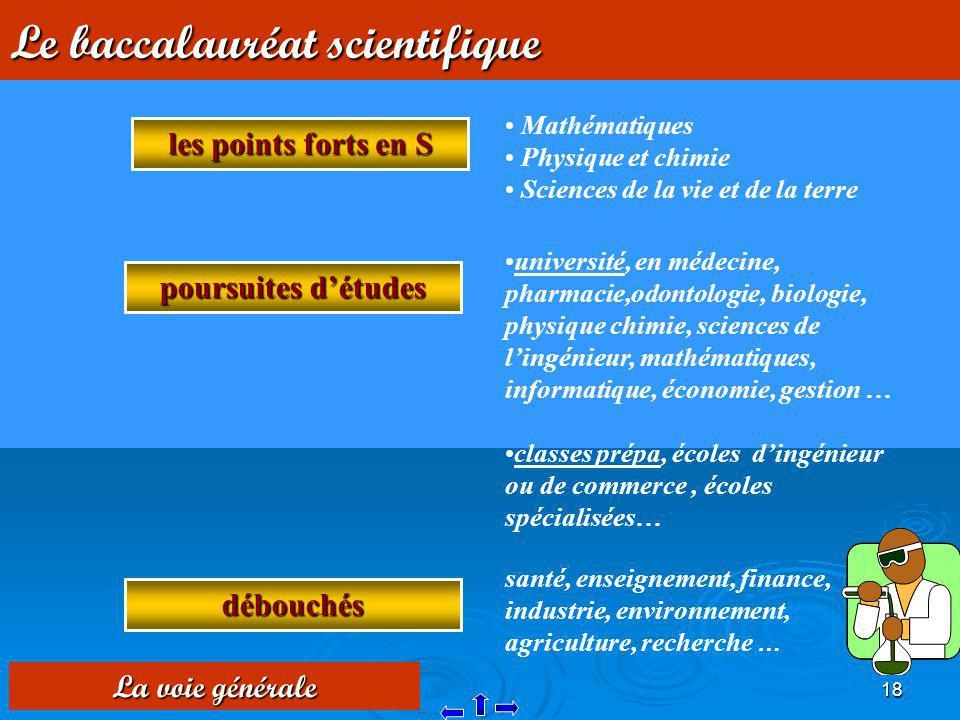 Le baccalauréat scientifique