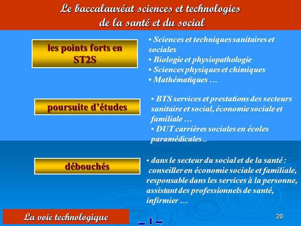 Le baccalauréat sciences et technologies de la santé et du social