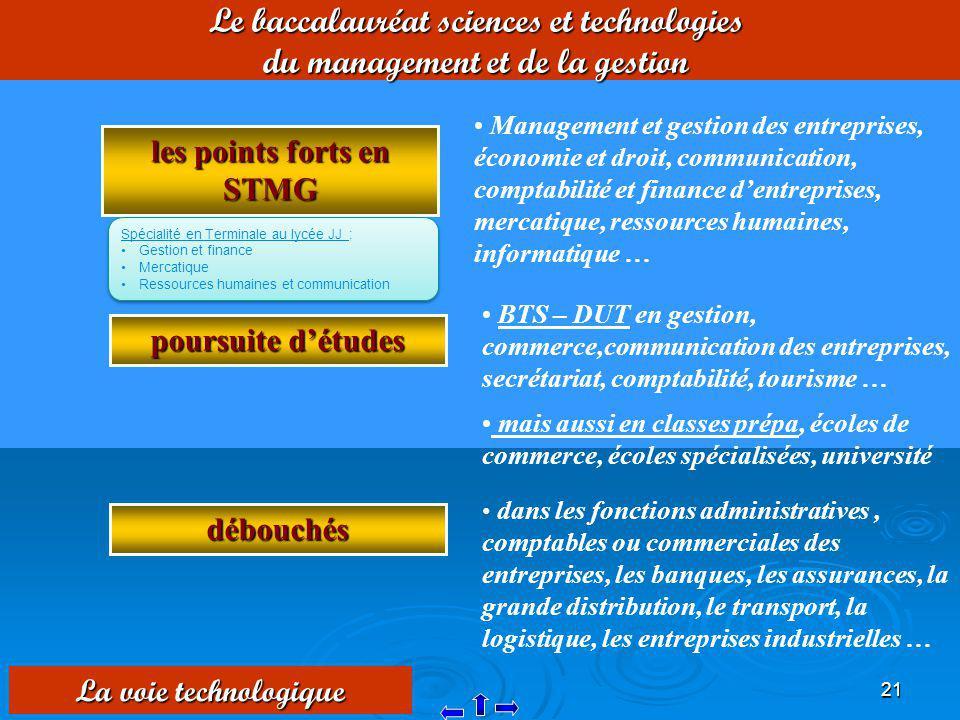 Le baccalauréat sciences et technologies