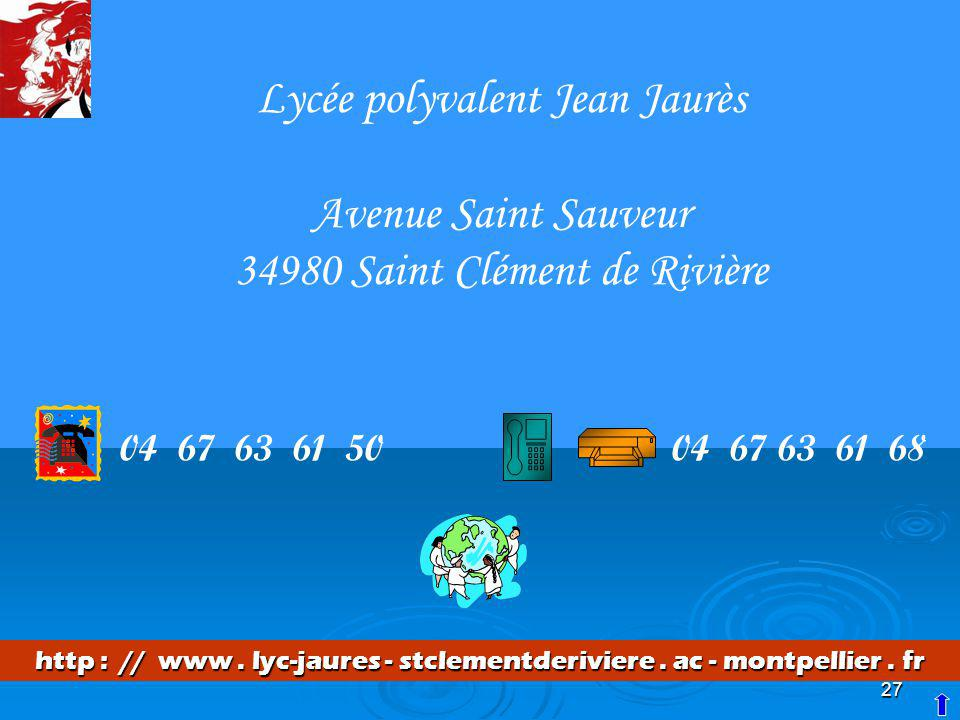 Lycée polyvalent Jean Jaurès Avenue Saint Sauveur