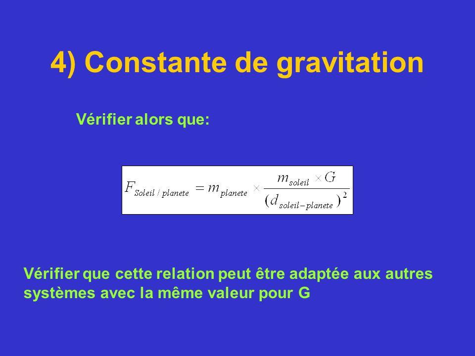 4) Constante de gravitation