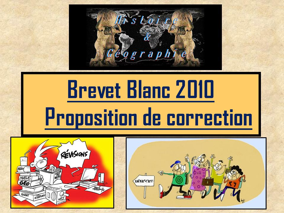 Proposition de correction