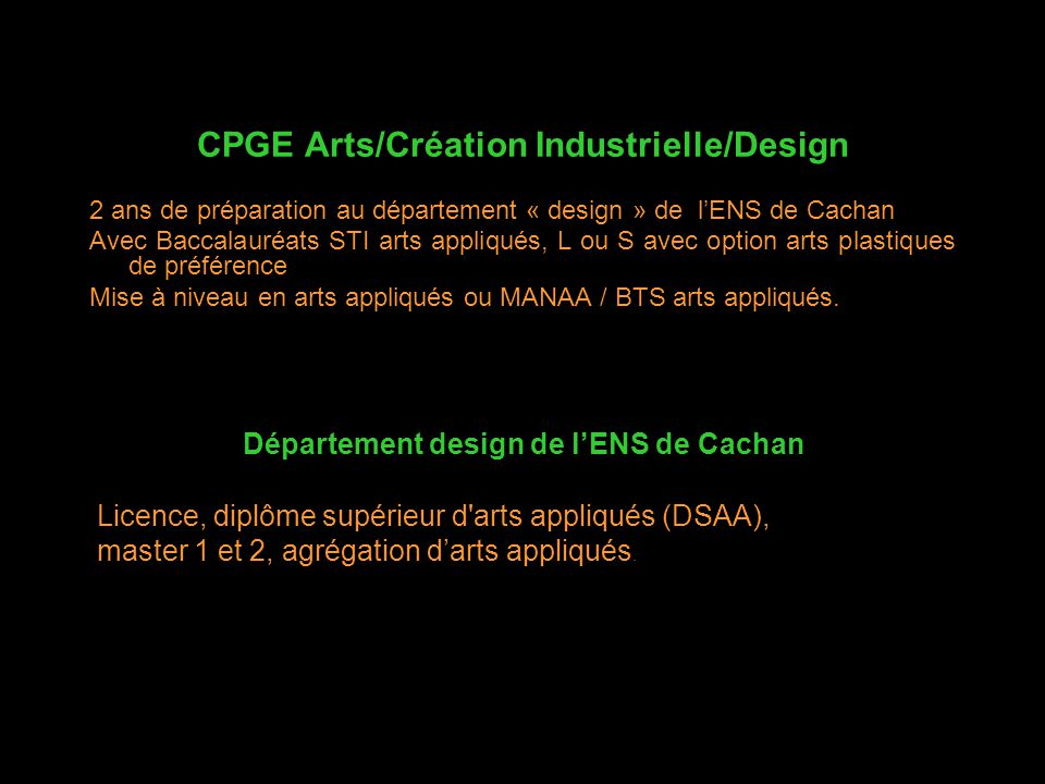 CPGE Arts/Création Industrielle/Design