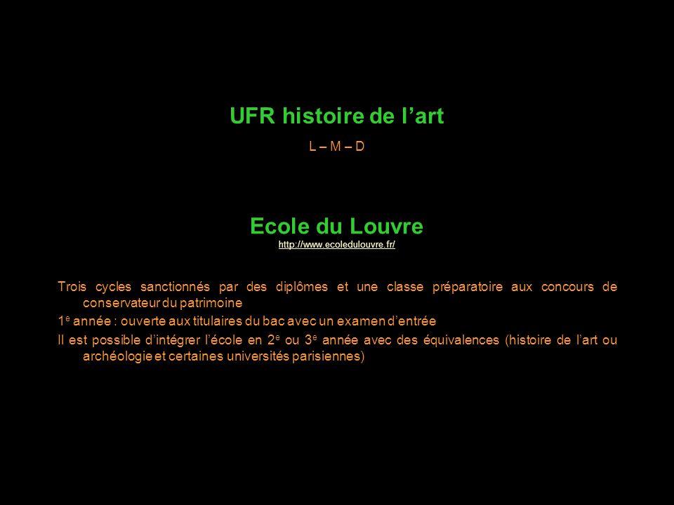 UFR histoire de l'art Ecole du Louvre