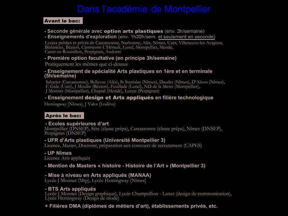 Dans l'académie de Montpellier
