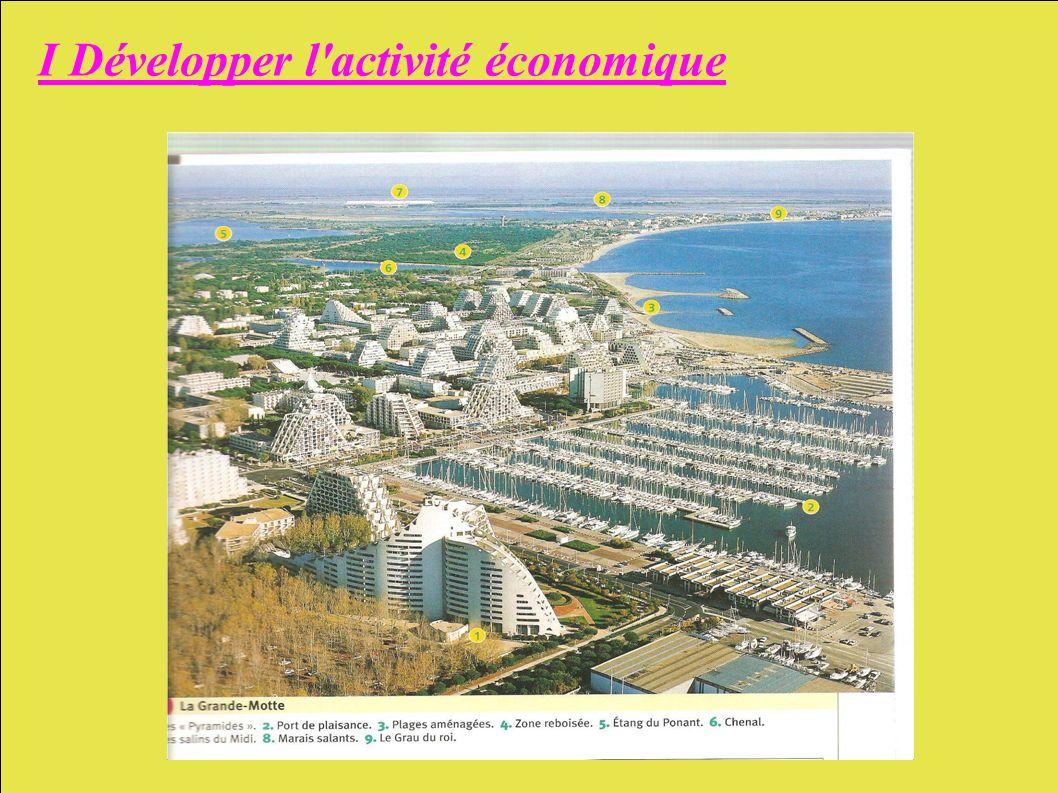 I Développer l activité économique