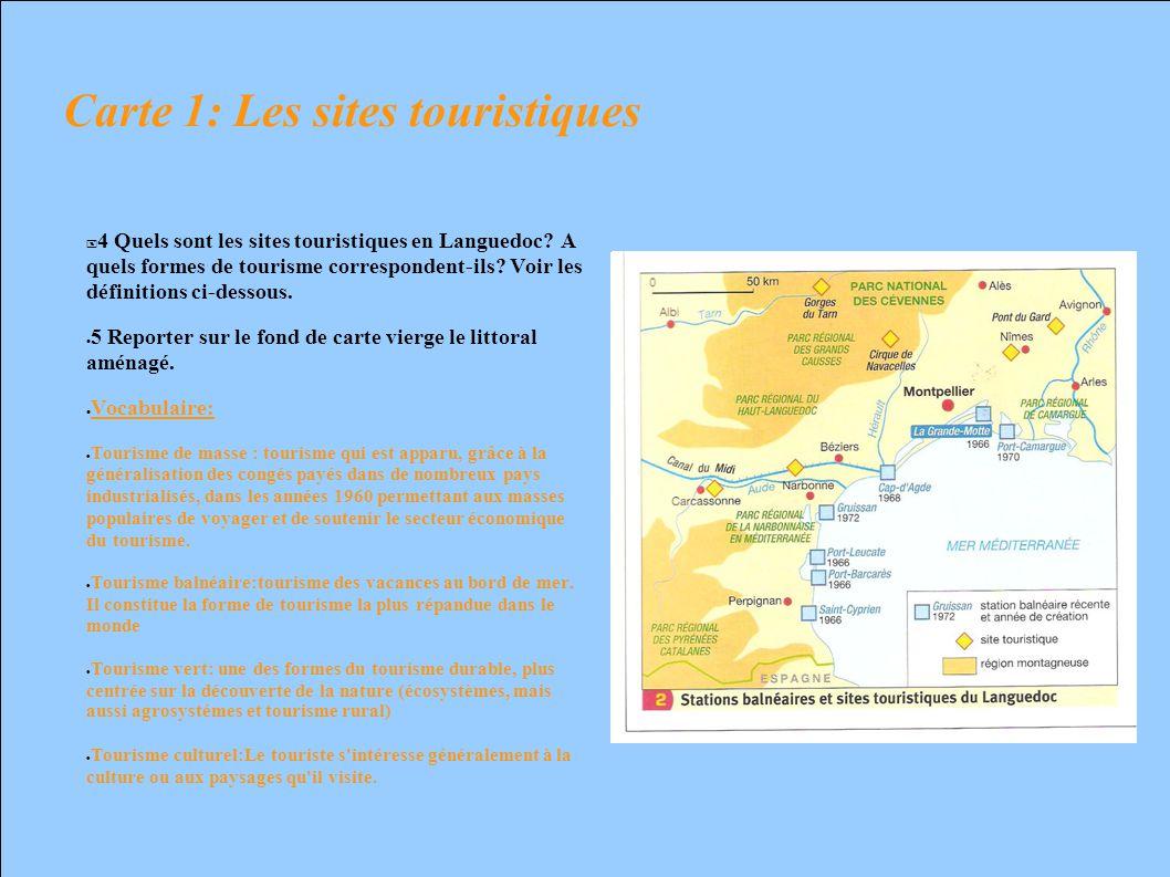 Carte 1: Les sites touristiques