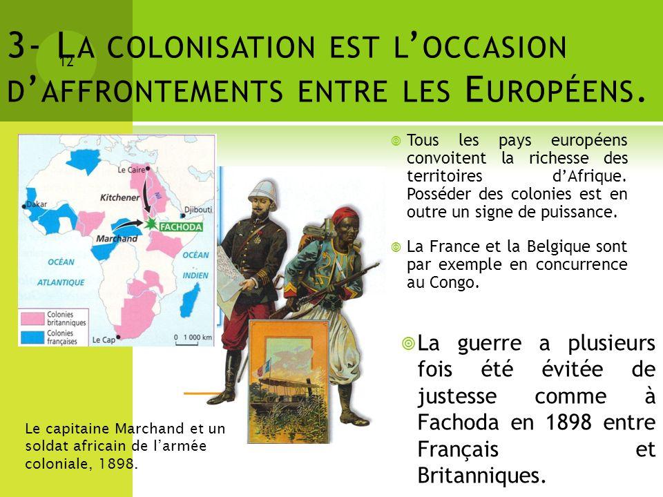 3- La colonisation est l'occasion d'affrontements entre les Européens.