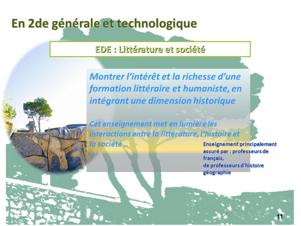 EDE : Littérature et société