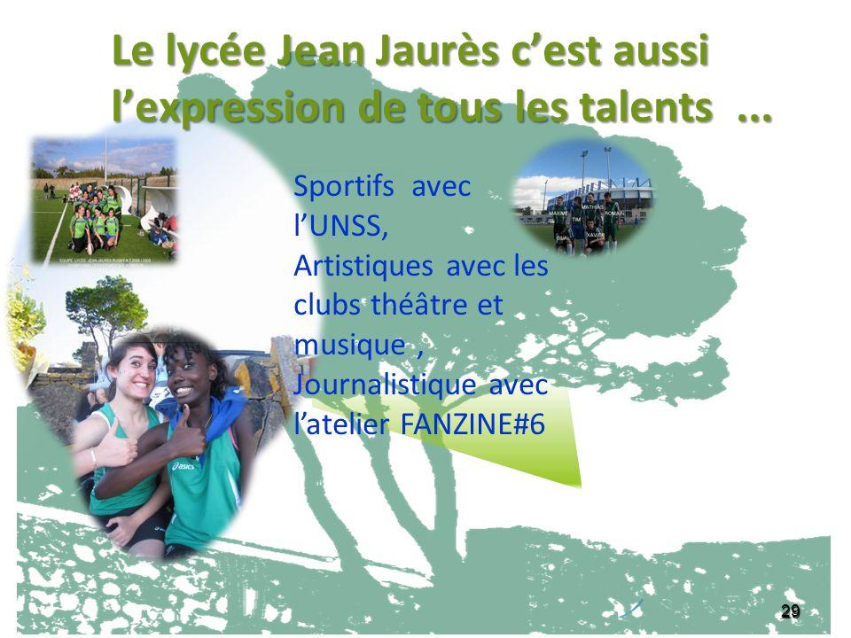 Le lycée Jean Jaurès c'est aussi l'expression de tous les talents ...