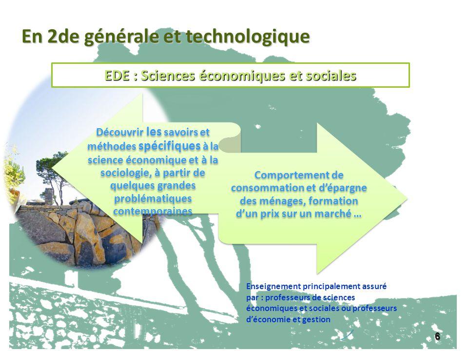 EDE : Sciences économiques et sociales