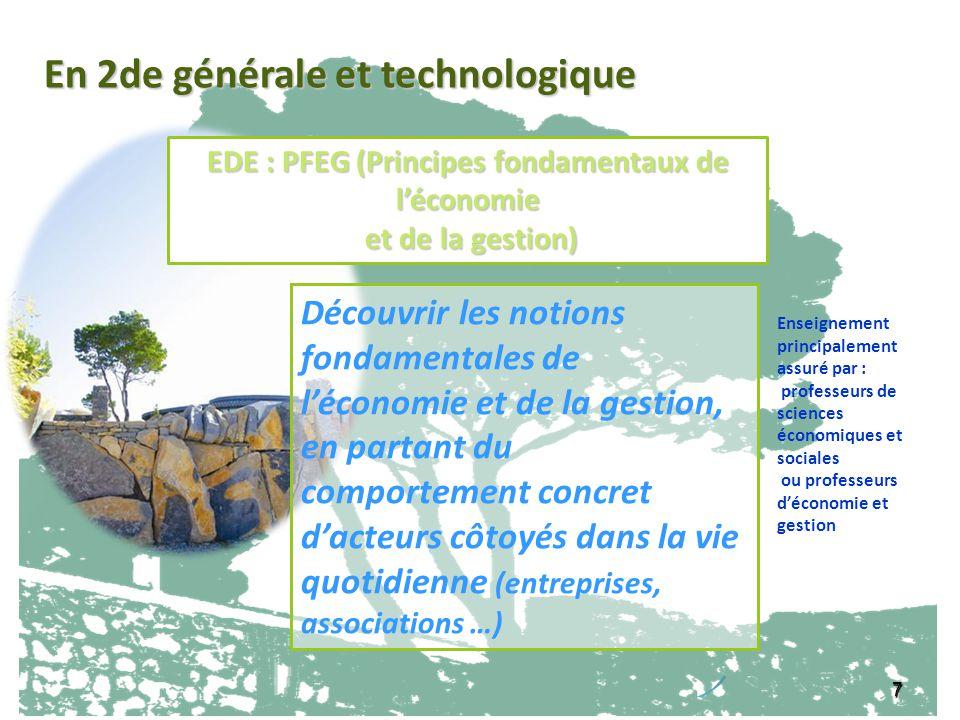 EDE : PFEG (Principes fondamentaux de l'économie