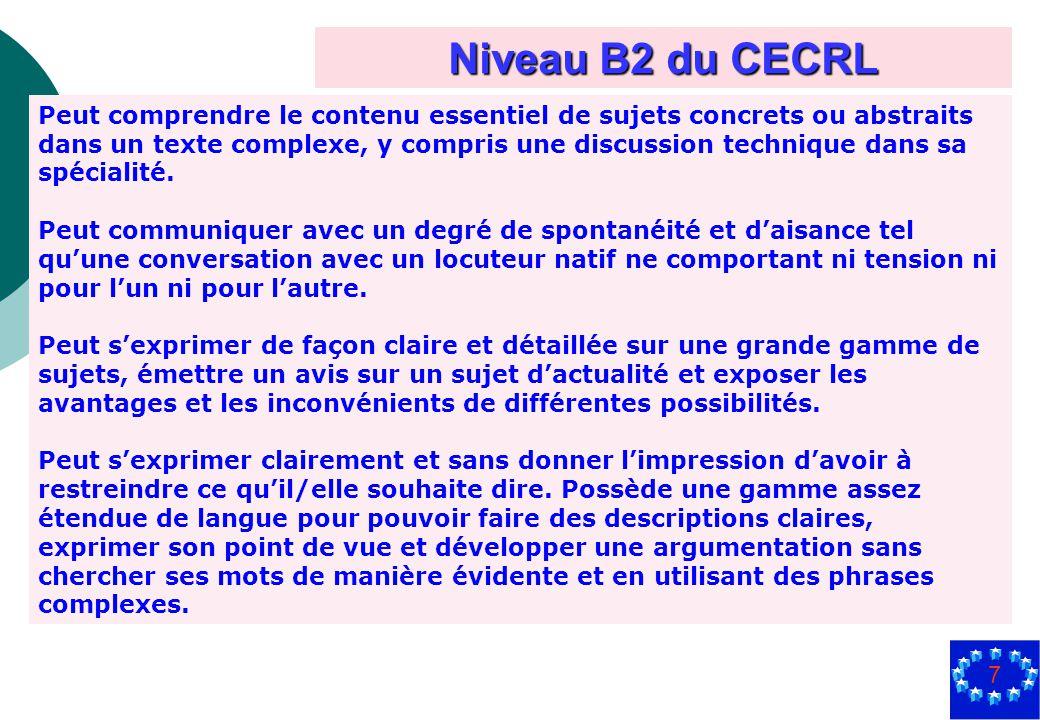 Niveau B2 du CECRL