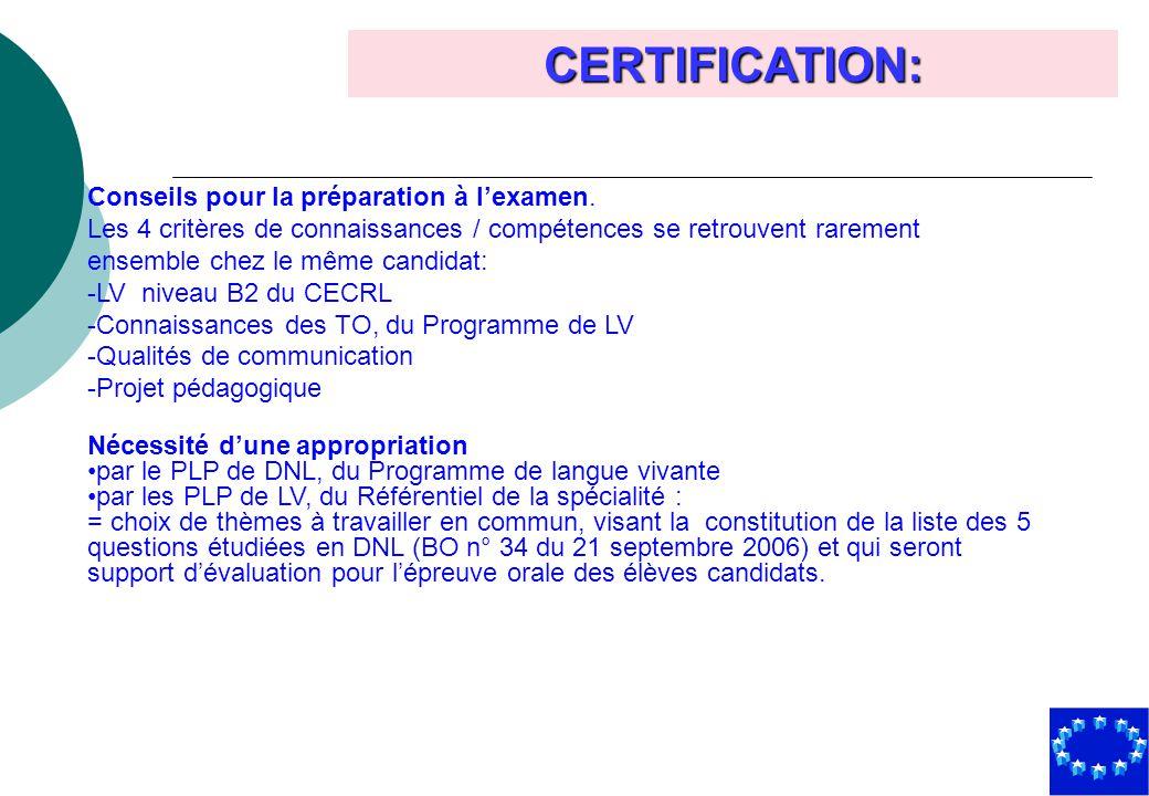 CERTIFICATION: Conseils pour la préparation à l'examen.