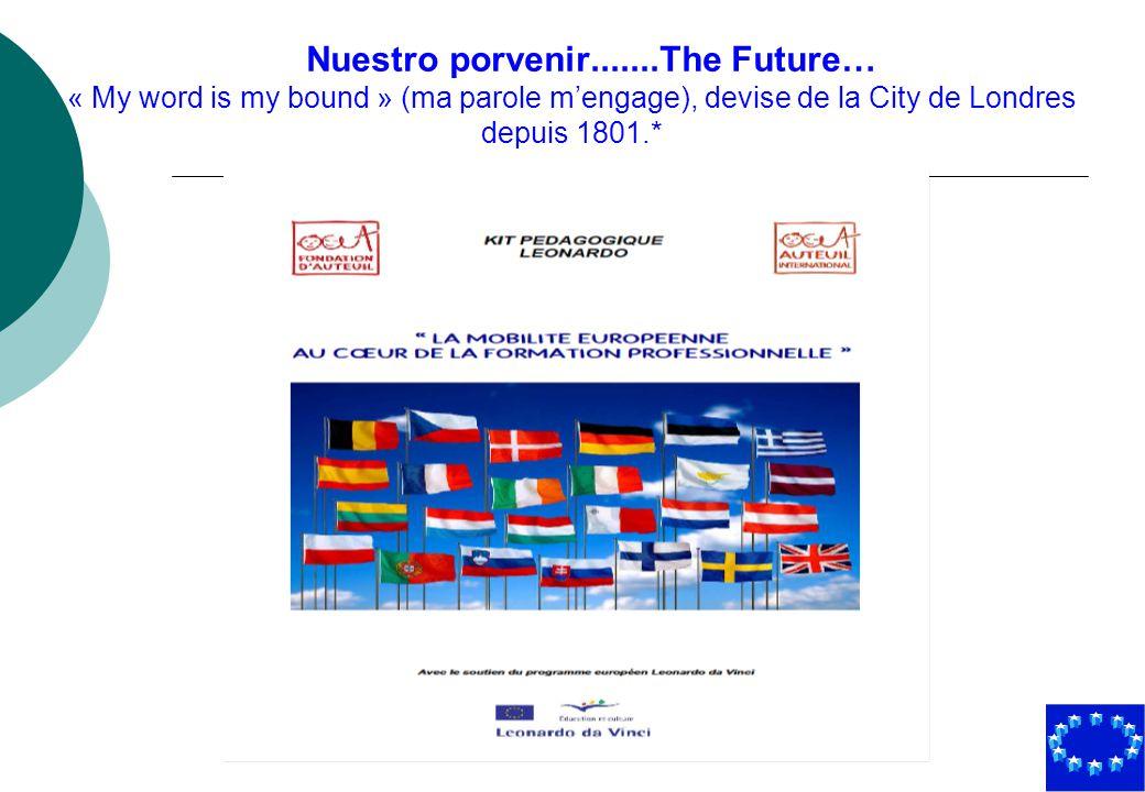 Nuestro porvenir.......The Future… « My word is my bound » (ma parole m'engage), devise de la City de Londres depuis 1801.*