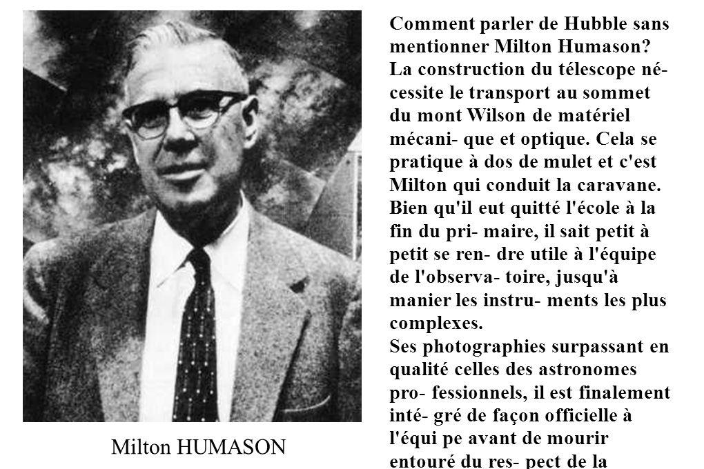 Comment parler de Hubble sans mentionner Milton Humason