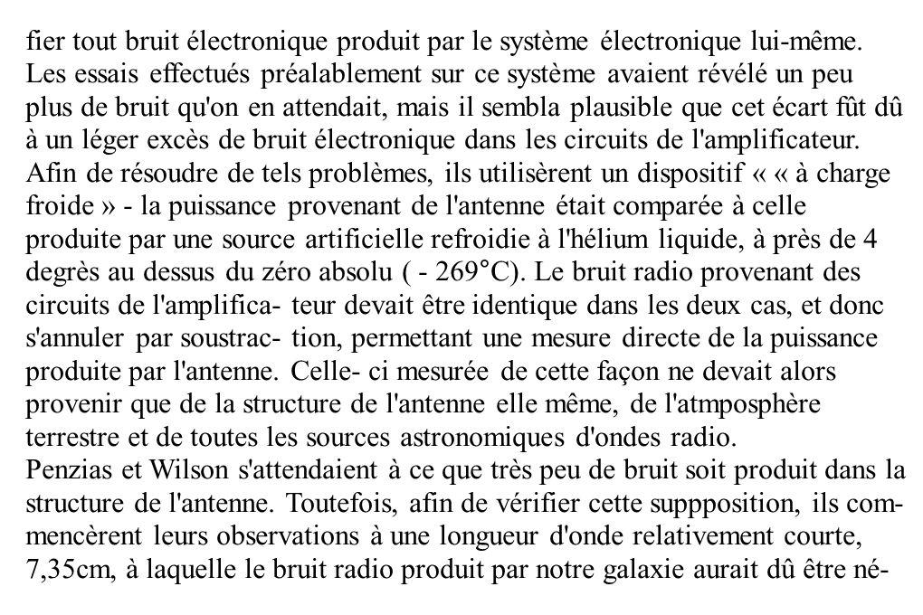 fier tout bruit électronique produit par le système électronique lui-même.