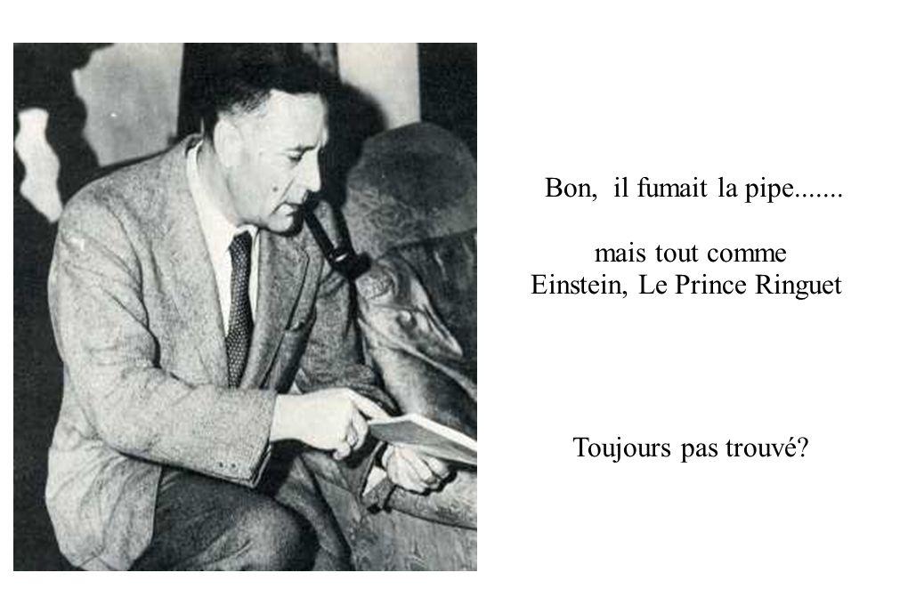 Bon, il fumait la pipe....... mais tout comme Einstein, Le Prince Ringuet Toujours pas trouvé