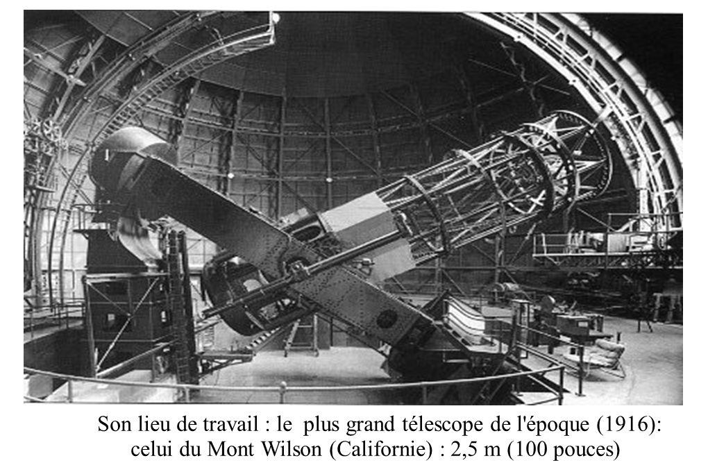 Son lieu de travail : le plus grand télescope de l époque (1916):