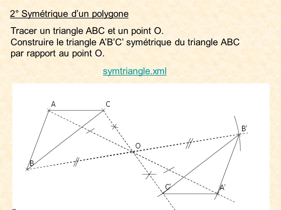 2° Symétrique d'un polygone