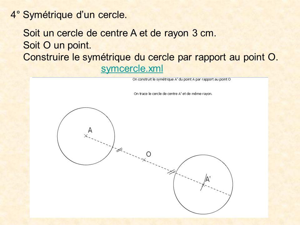 4° Symétrique d'un cercle.