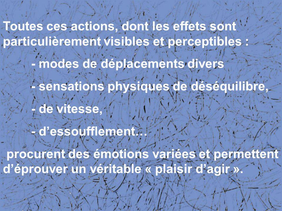 Toutes ces actions, dont les effets sont particulièrement visibles et perceptibles :