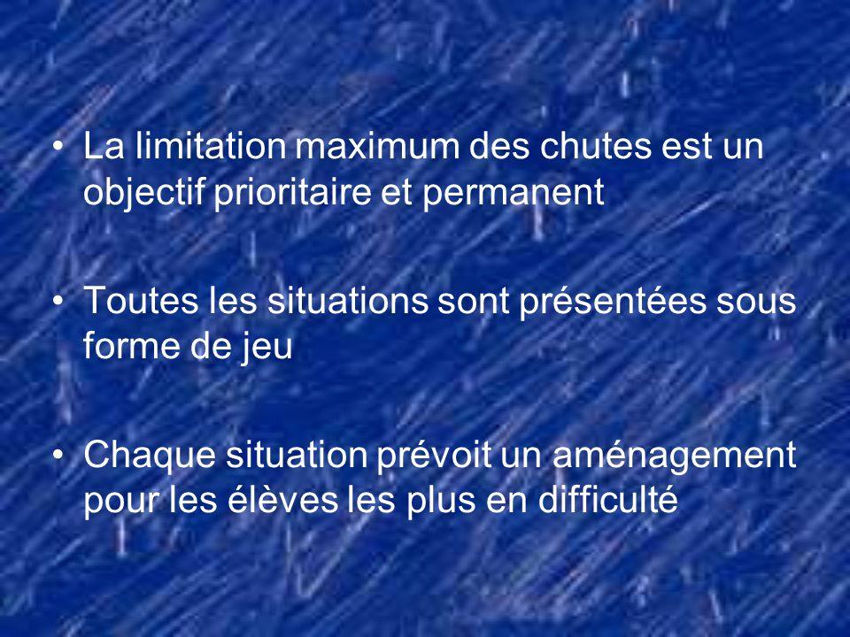 La limitation maximum des chutes est un objectif prioritaire et permanent