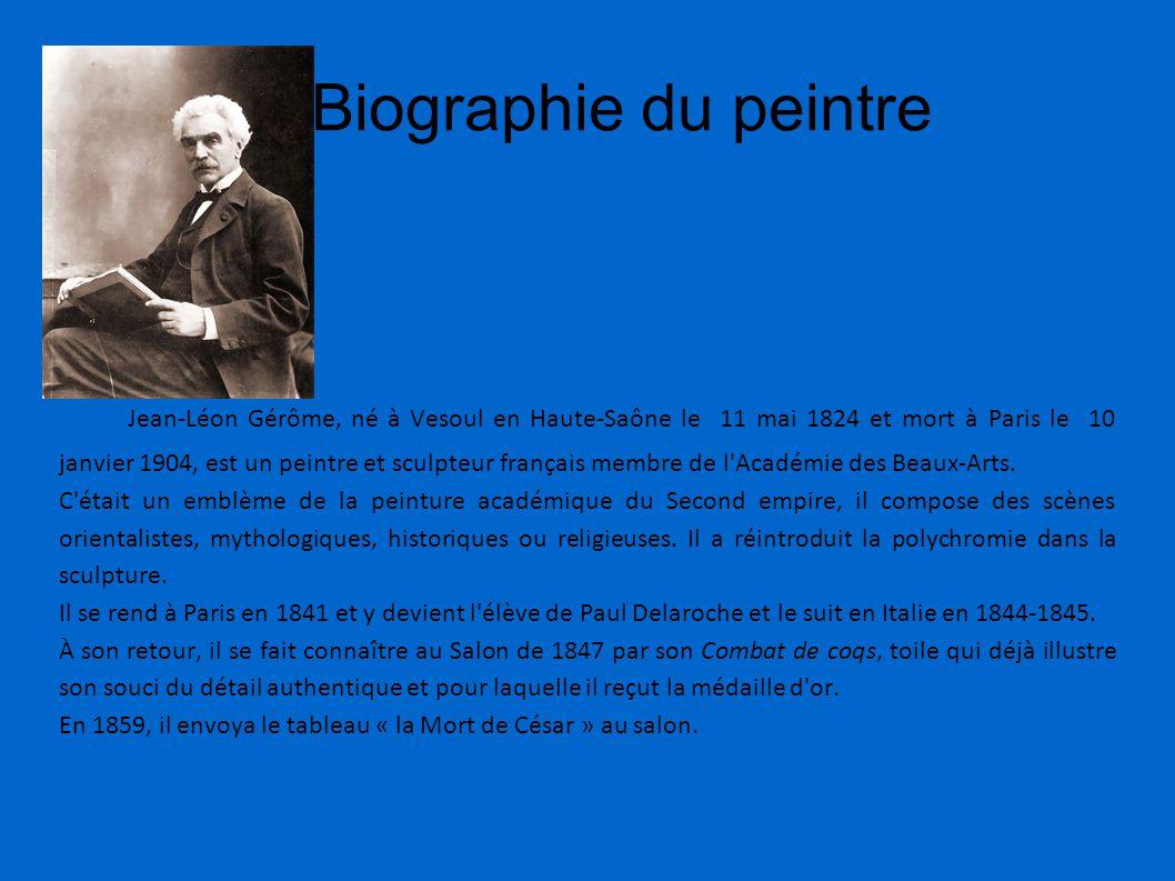 Biographie du peintre