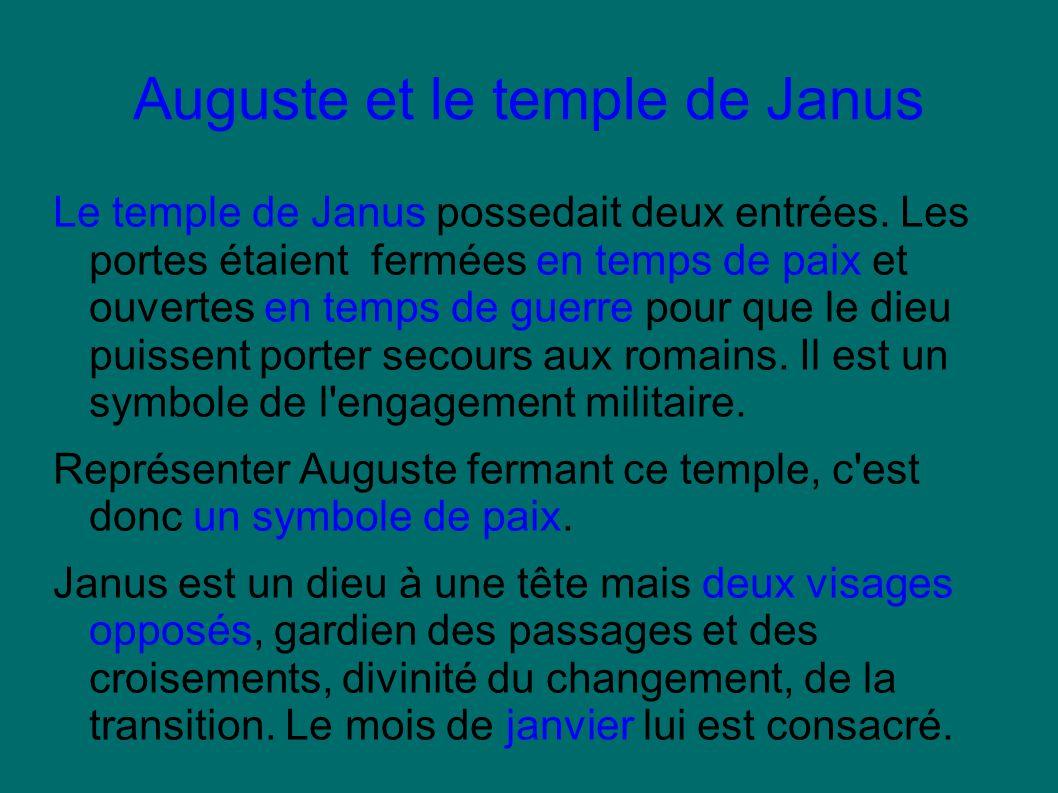 Auguste et le temple de Janus