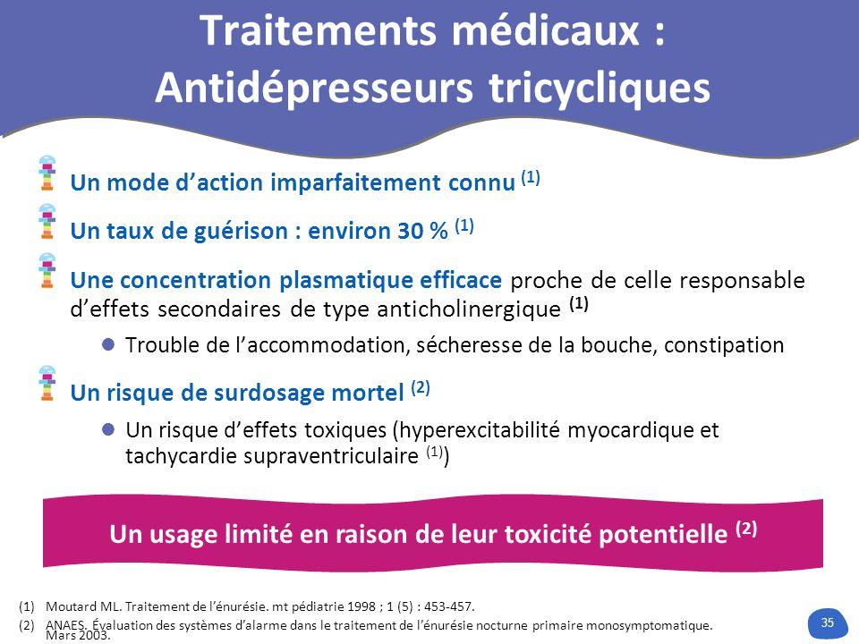 Traitements médicaux : Antidépresseurs tricycliques