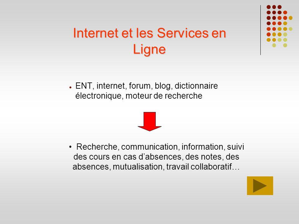 Internet et les Services en Ligne