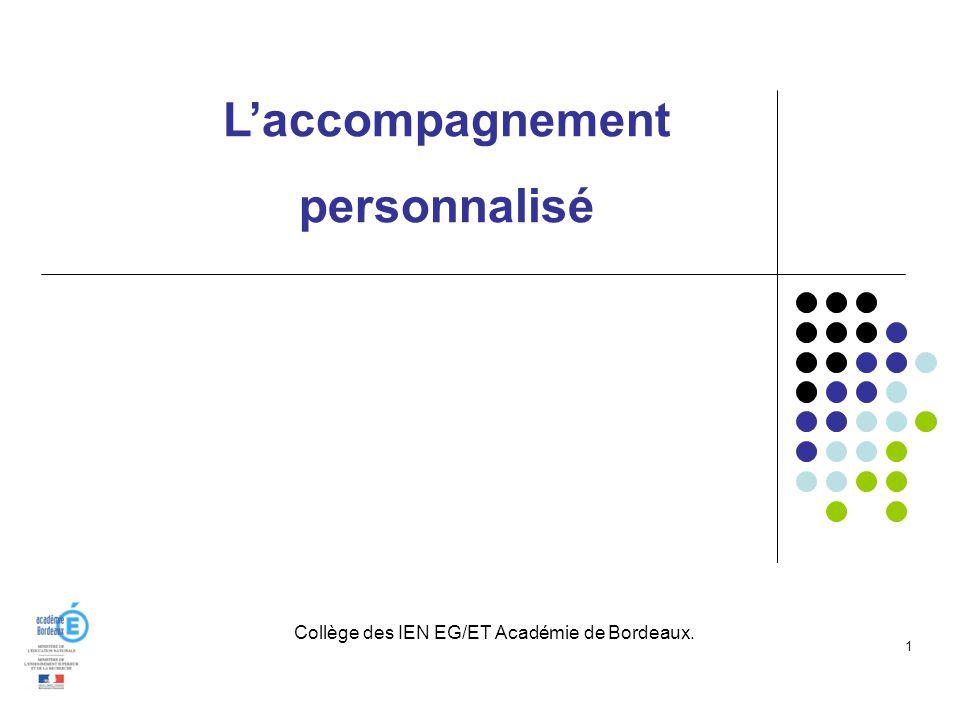 Collège des IEN EG/ET Académie de Bordeaux.