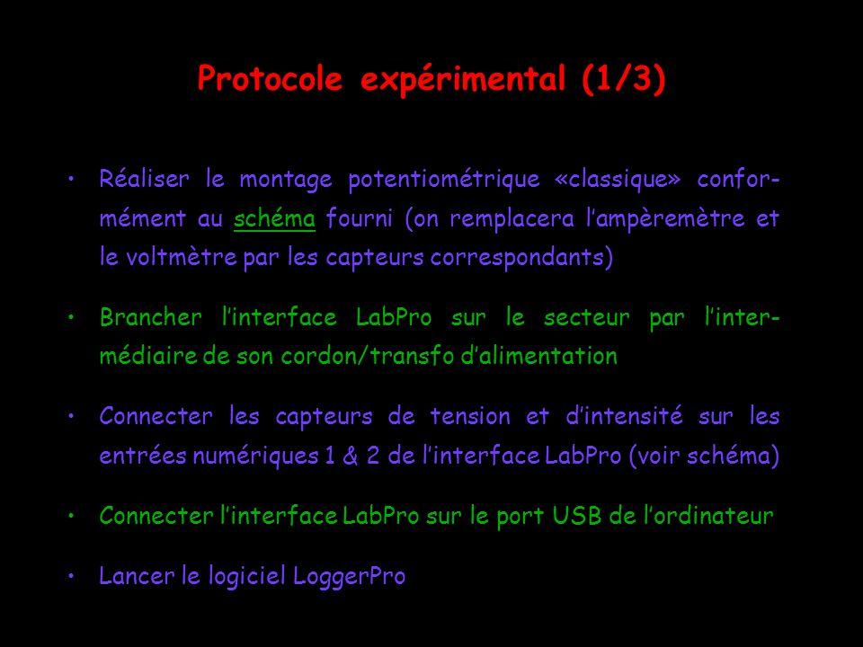 Protocole expérimental (1/3)