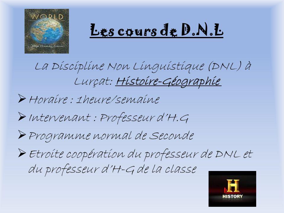 La Discipline Non Linguistique (DNL) à Lurçat: Histoire-Géographie