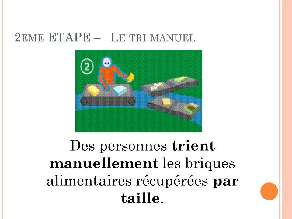 2eme ETAPE – Le tri manuel