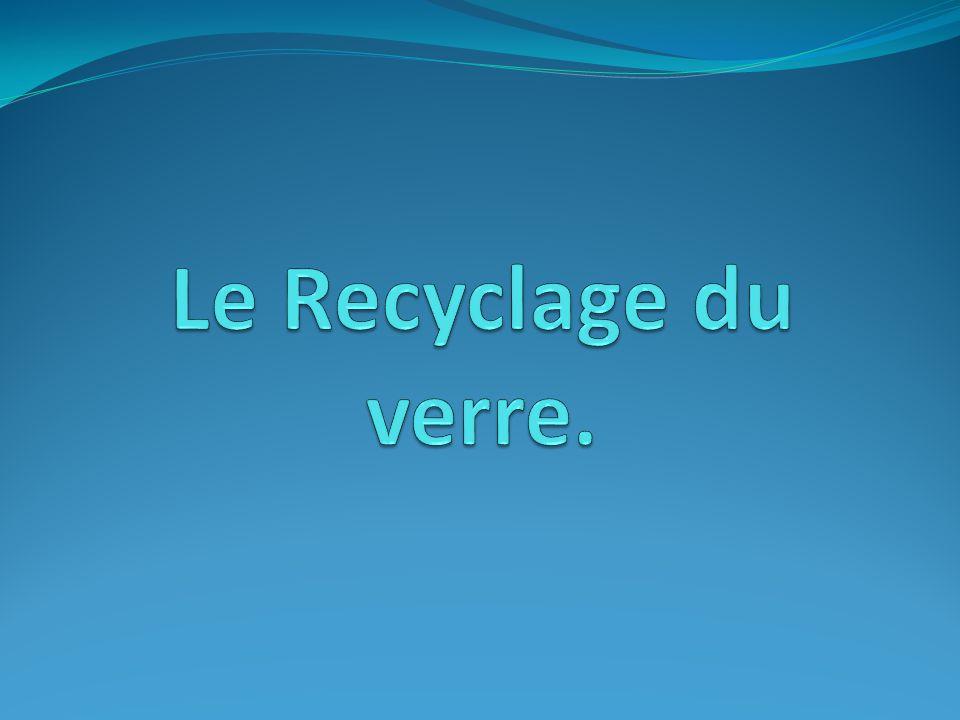 Le Recyclage du verre.