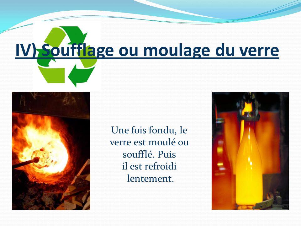 IV) Soufflage ou moulage du verre